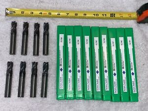 8 Qty huge Lot Sumitomo Carbide 4 Flute End Mill Milling Tool Bit 803k10 scm