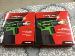 Snap On Tools Butane Gas Torch Set Torch3000 Torch4000 Green New Snap On
