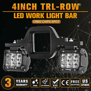 Trailer Tow Hitch Mount Bracket 4 Inch Led Light Bar Reverse Offroad Pick Up