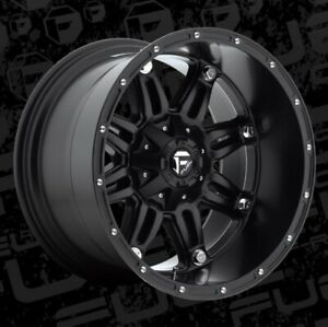 22x12 Et 44 Fuel D531 Hostage 5x114 3 5x127 Matte Black Rims Set Of 4