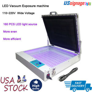 Us Tabletop Precise 20 x24 80w Vacuum Led Uv Exposure Unit For Screen Printing