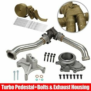For 99 5 03 Ford 7 3 Powerstroke Diesel 304 Ss Up Pipes Housing