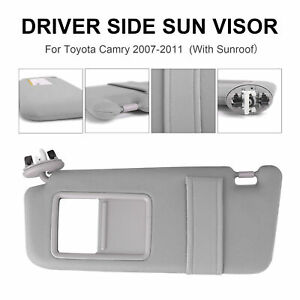 Grey Car Sun Visor Left Driver Side With Sunroof For Toyota Camry 06 11