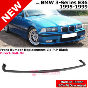 Replacement M3 Splitter Front Bumper Lip For Bmw 3 Series 1995 1999 E36 Black