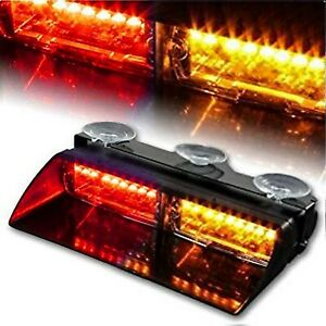 Red Amber 16 Led Car Emergency Hazard Strobe Flash Warning Interior Light On Off