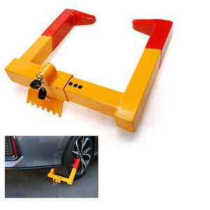 Wheel Lock Clamp Boot Tire Claw Trailer Steel Car Truck Anti theft Towing Lock