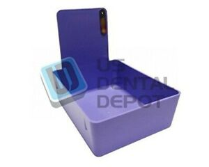 Dental Laboratory Working Case Plastic Pantray With Clip Holder 12x Purple Pans