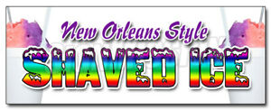 New Orleans Style Shaved Ice Decal Sticker Snow Cones Balls Fruit Flavors