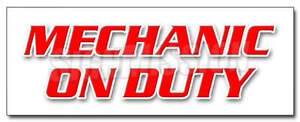 Mechanic On Duty Decal Sticker Repair Shop Automotive Tools Maintenance