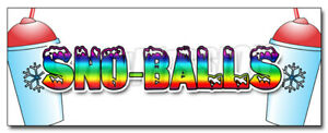 Sno balls Decal Sticker Snowcones Water Ice Italian Shaved Ice Cold Fruit