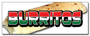 48 Burritos Concession Decal Mexican Food Restaurant Cart Trailer Stand Sticker