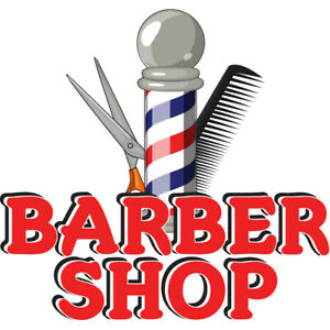 Barber Shop Concession Decal Sign Cart Trailer Stand Sticker Equipment