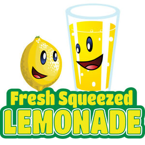 Lemonade Concession Decal Sign Cart Trailer Stand Sticker Equipment