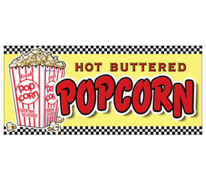 Popcorn Concession Decal Menu Vendor Cart Trailer Stand Sticker Pop Corn