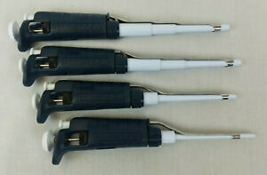 Lot Of 4 Gilson Pipetman Pipettes P100 P200 And Two P1000 Used Eb 2104