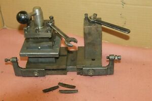 Lathe 4 4 Sided Tool Post And 2 Vintage Grinder Double Tool Post