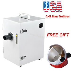 Dental Lab Digital Single row Dust Collector Vacuum Cleaner 370w Suction Base