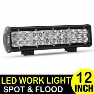 Dual Row Cree 12inch 72w Led Work Light Bar Spot Flood Offroad 4wd Atv Truck 10