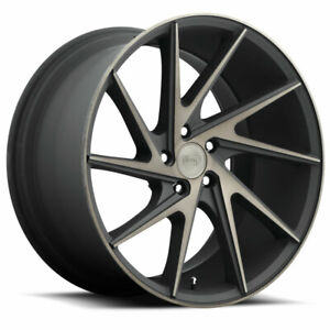 20x10 5 Et45 Niche M163 Invert 5x114 3 Black machined Ddt Rims set Of 4