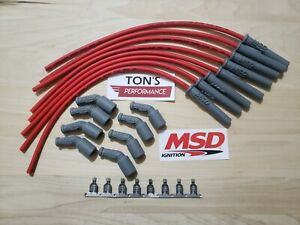 16 Msd 8 5mm Lsx Ls1 Swap Unassembled Multi Angle Spark Plug Boots Wires Red