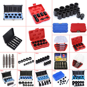 Damaged Bolts Nut Screw Remover Extractor Removal Threading Tools Socket Kits