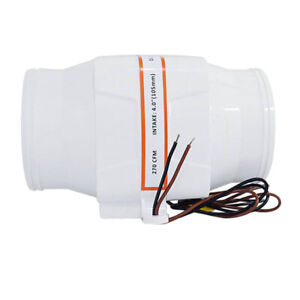 4 In line Marine Bilge Air Blower 12v 270cfm 3 5a