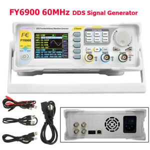 60mhz Fy6900 Dds Signal Generator Dual channel Arbitrary Waveform Pulse Tft 2 4