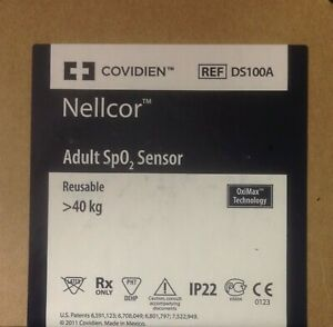 Nellcor Ds100a Adult Finger Clip Oximax Spo2 Sensor Sealed In Original Box