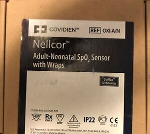 Nellcor Adult neonatal Spo2 Sensor With Wraps Model Oxi a n