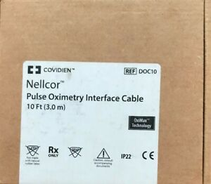Nellcor Pulse Oximetry Interface Cable 10ft Long Ref Doc10
