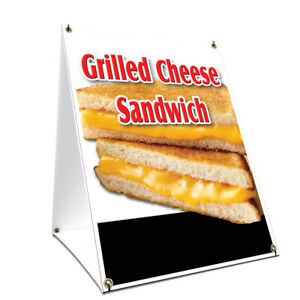 A frame Sidewalk Sign Grilled Cheese Sandwich Double Sided Graphics