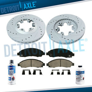Front 2004 2008 Colorado Canyon I 290 I 370 Drilled Rotor Ceramic Brake Pad