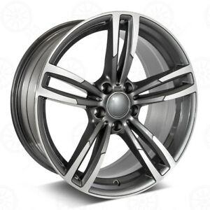 19 Gunmetal Machined Wheels 437 Style Fits Bmw 1 2 3 4 And 5 Series