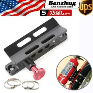 Car Quick Release Fire Extinguisher Roll Cage Bar Mount Bracket Kit For Jeep Utv