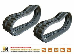 2pc Rio Rubber Track 450x86x52 Ihi Cl 35 Skid Steer