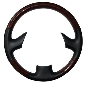 Tan Leather Wood Steering Wheel Cover For 99 03 Lexus Rx300 Gs300 Gs400 Gs430
