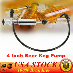 Heavy Duty Beer Party Hand Pump Keg Tap D System 4 Inch Lever Coupler Chrome New