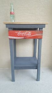 Vintage Coca-Cola end table.  Made from recycled pallet and crate materials.