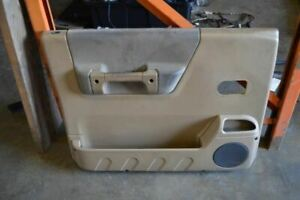 2000 2001 2002 Land Rover Discovery Left Driver Front Door Trim Panel Brown
