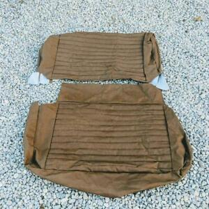 Jeep Cj5 Cj7 Tan Vinyl Upper Lower Rear Bench Seat Upholstery Kit Vintage Nos