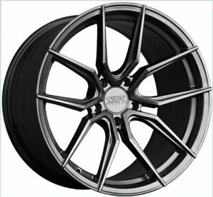 19x8 5f 19x10r 40 40 Xxr 559 5x114 3 Chromium Black Rims Set Of 4