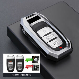 Silver Luxury Zinc Alloy Remote Key Fob Case Cover For Audi A3 A4 A5 A6 A7 A8