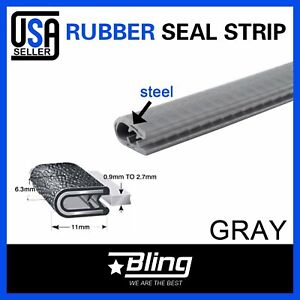 24feet Gray Door Rubber Seal Trim Lock Auto Parts Weather Stripping 7 16 X1 2