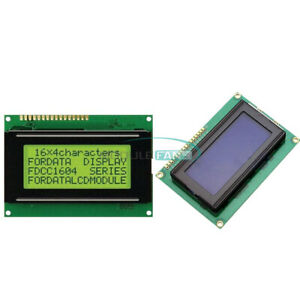 1604 Lcd 16x4 Character Display Module Lcm Yellow blue Blacklight 5v For Arduino