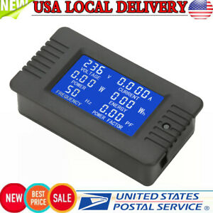 Pzem 022 Ac Digital Meter Power Energy Voltage Current Kwh Test Close Ct 100a Us