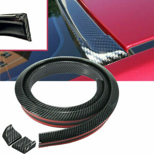 Universal Rear Roof Trunk Spoiler Wing Tail Lip 4 9ft Carbon Fiber Look Trim