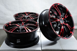 17 Wheels Escort Mx 5 Miata Mini Cooper Corolla Yaris Integra Black Red Rims