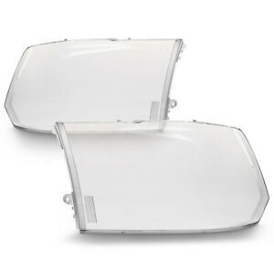 Extra Clear Heavy Duty 13 18 Dodge Ram Pickup Replacement Headlight Cover Lens