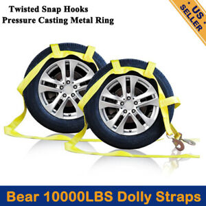 Tow Dolly Basket Strap With Twisted Snap Hooks For Small To Medium Size Tires Us