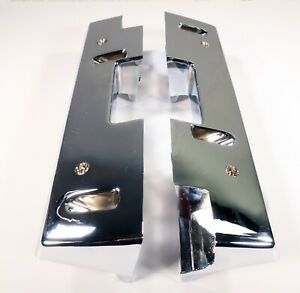 1965 1967 Chevrolet Oldsmobile Pontiac Front Arm Rest Bases Chrome Pair